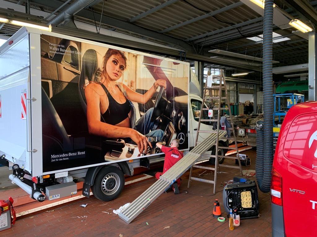 Mercedes Burmester Sprinter Werbung Kampagne I