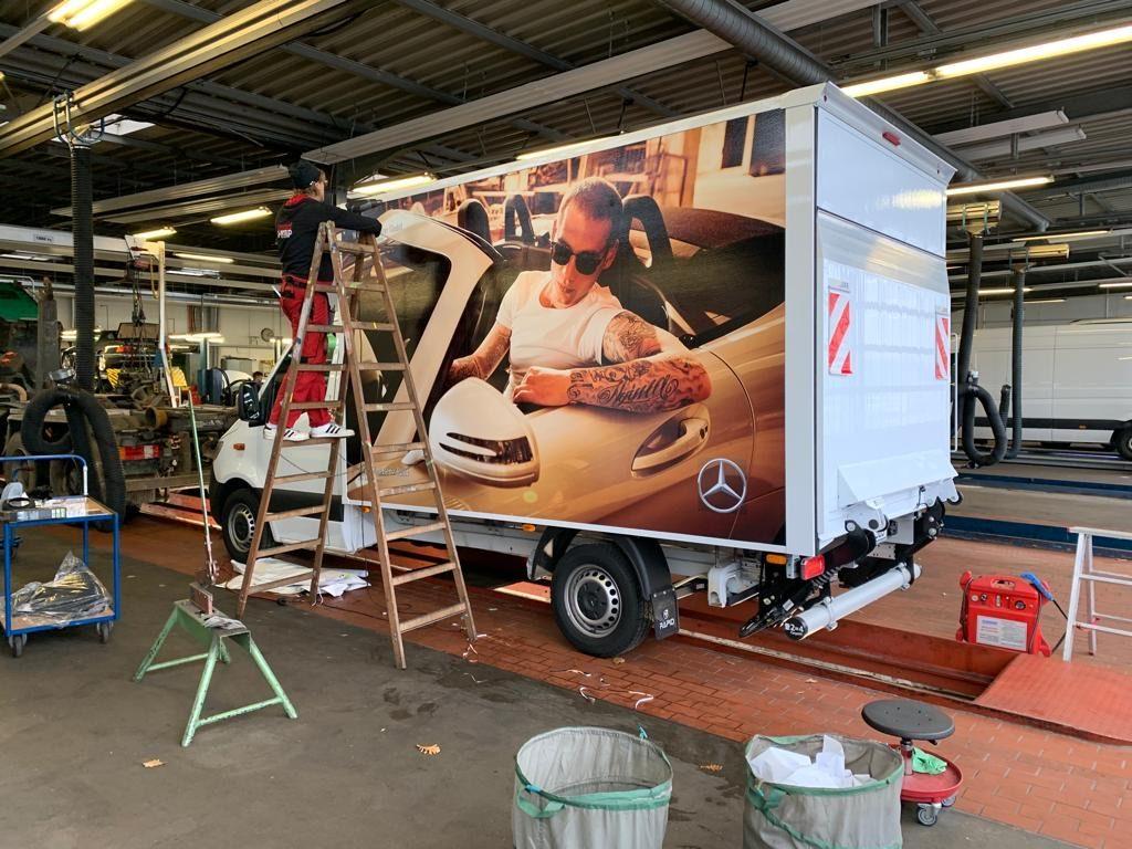 Mercedes Burmester Sprinter Werbung Kampagne II