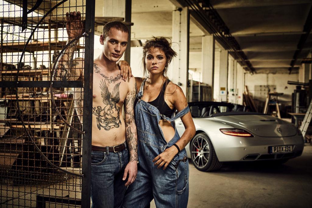 Mercedes Burmester Werkstatt Autofotografie Werbefotografie