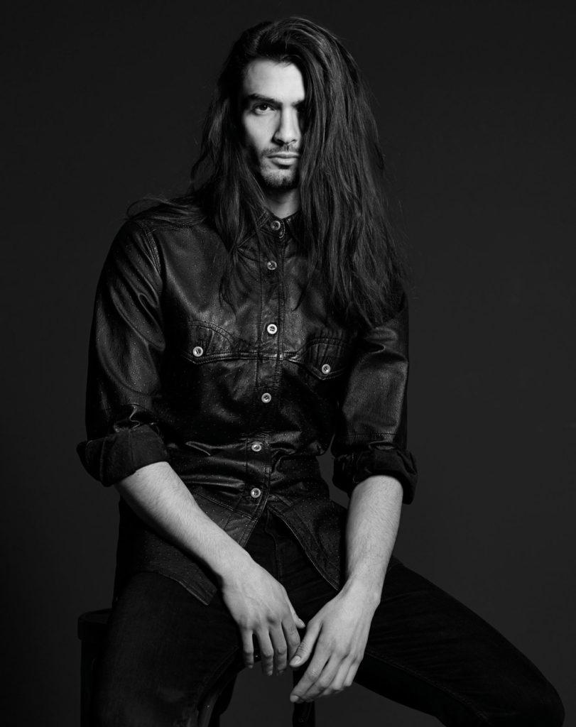 Fasion Portrait schwarz weiss Male Model II