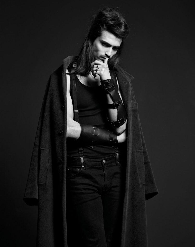 Fasion Portrait schwarz weiss Male Model III