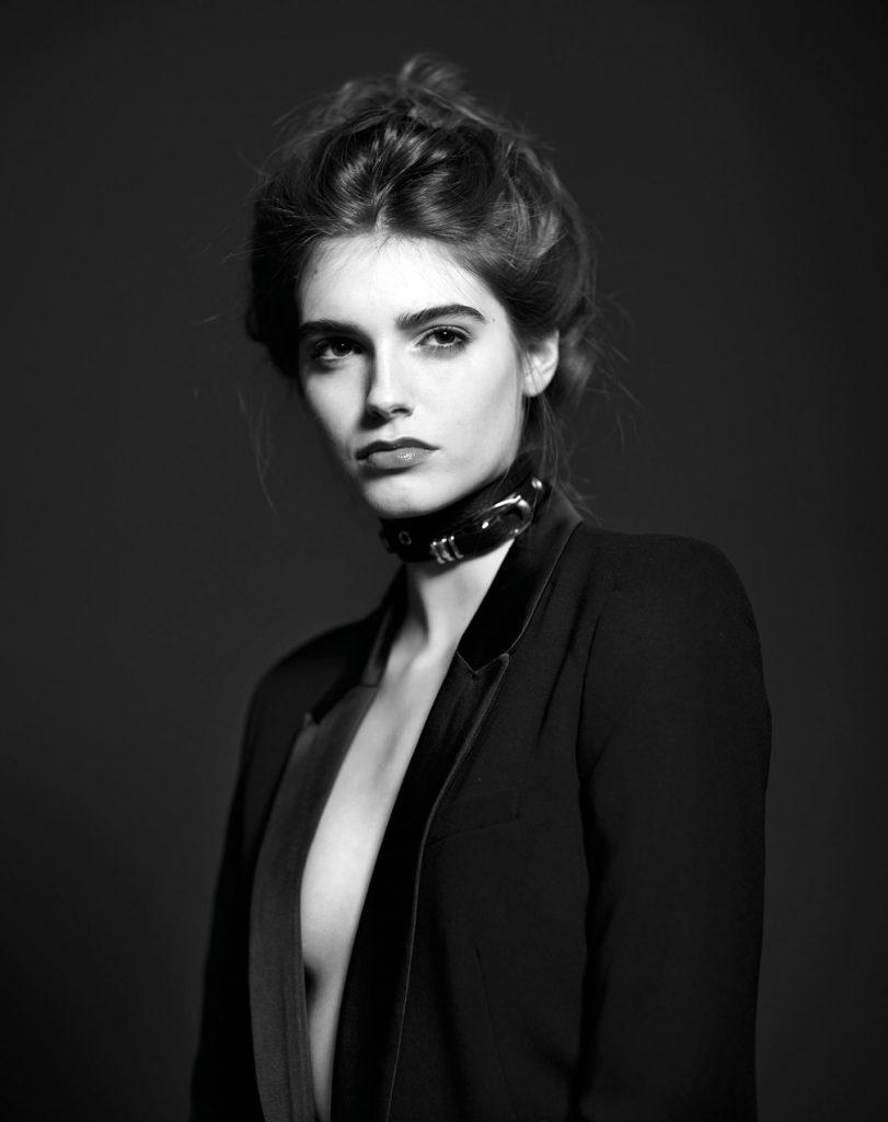 Fasion Portrait schwarz weiss Model Beauty