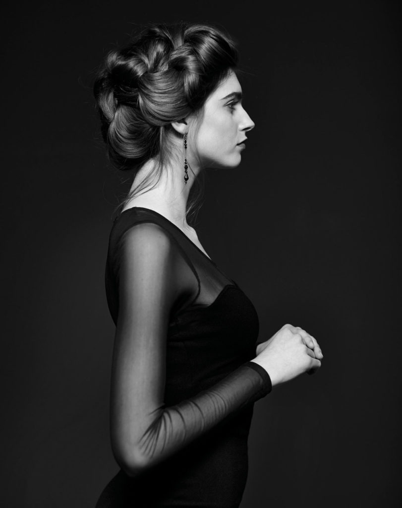 Fasion Portrait schwarz weiss Model Profil