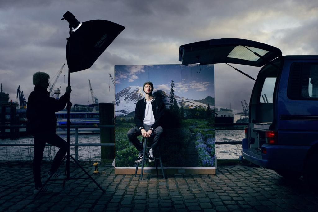 Jomo Hip Hop Portrait Hamburger Hafen Musikerportrait I