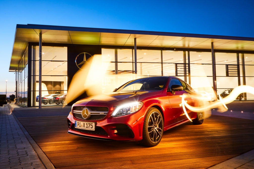 Mercedes Burmester AMG Lightpainting