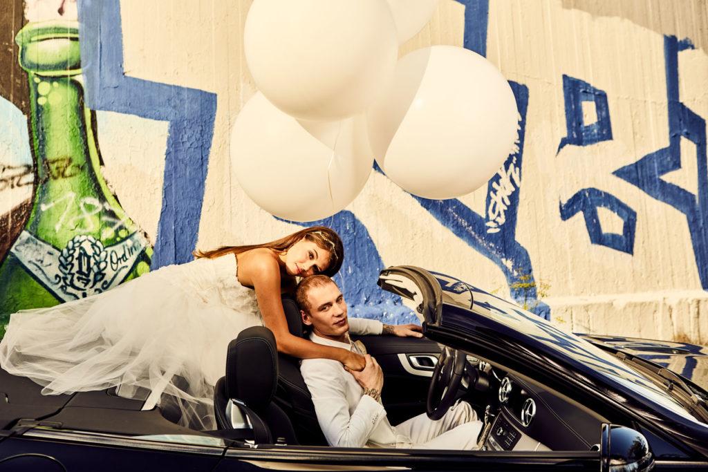 Mercedes Burmester Hochzeit Ballons