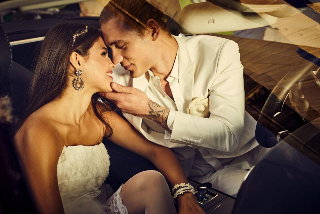 Mercedes Burmester Hochzeit Kuss