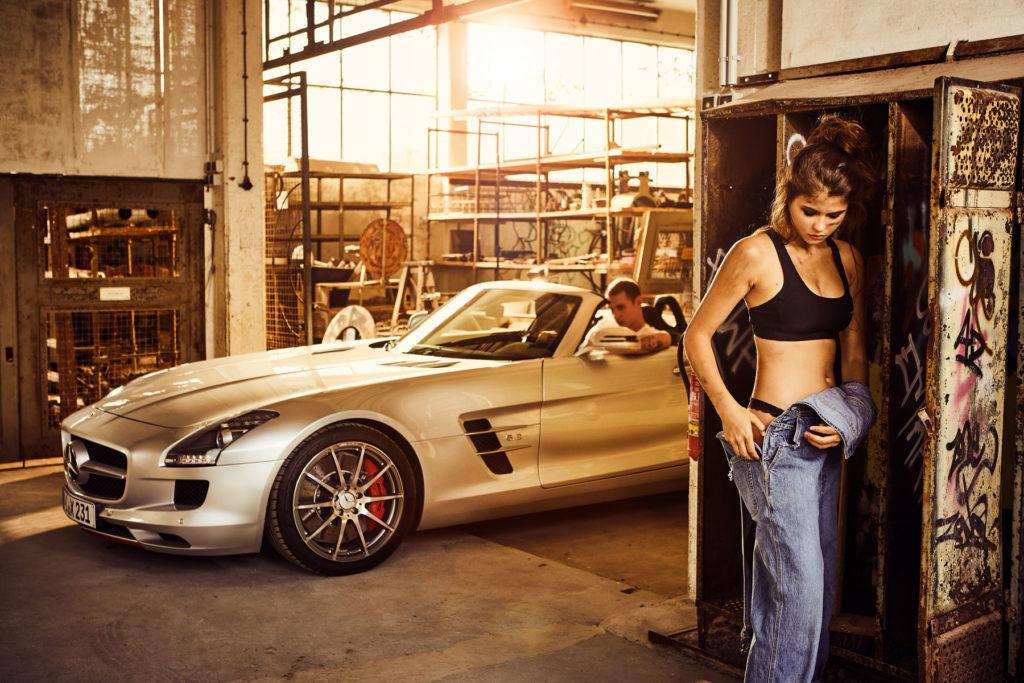 Mercedes Burmester Werkstatt Autofotografie Werbefotografie III