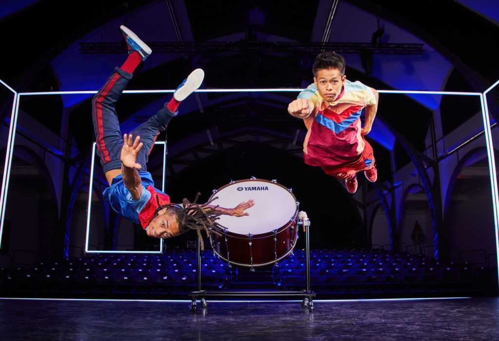 Yamaha Flying Steps Kampagne Kooperation Tanz IV Instrumentenfotografie