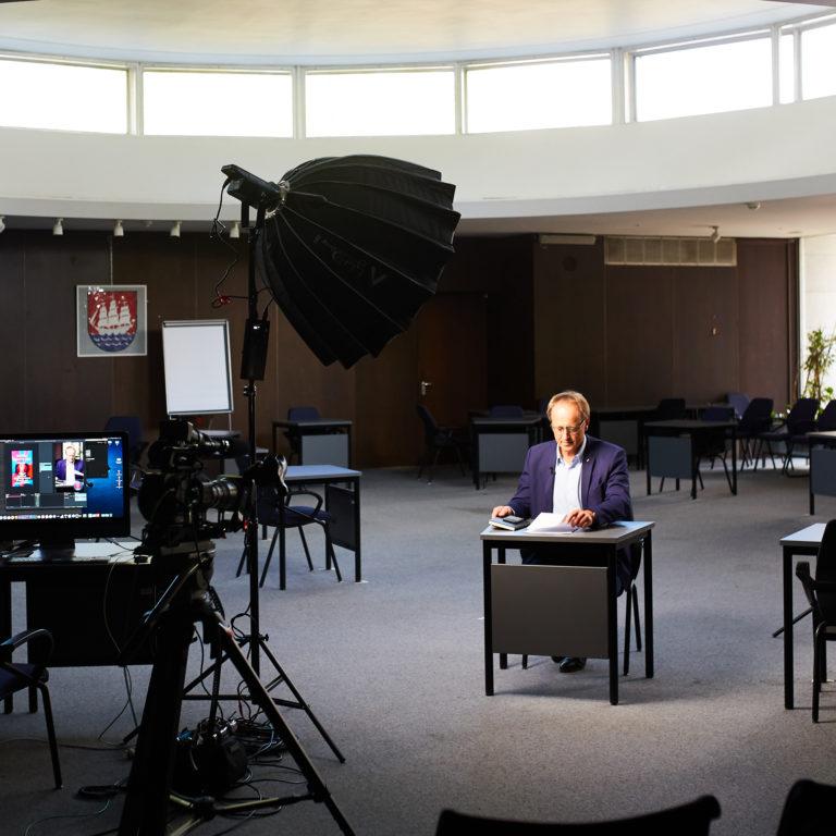Livestream für Unternehmen Medienkapitän Volker Hatje